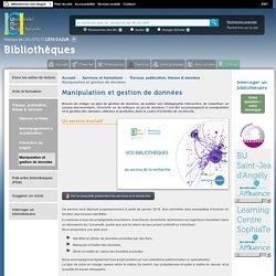 Manipulation et gestion de données — Bibliothèques Universitaires