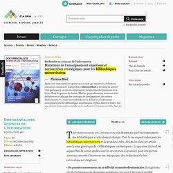 Mutations de l'enseignement supérieur et perspectives stratégiques pour les bibliothèques universitaires