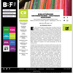 Bibliothèques universitaires: nouveaux horizons