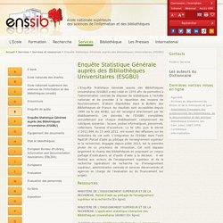 Enquête Statistique Générale auprès des Bibliothèques Universitaires (ESGBU)