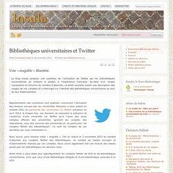 Bibliothèques universitaires et Twitter