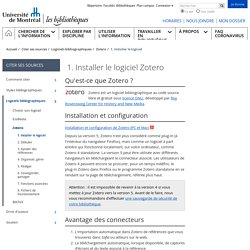 1. Installer le logiciel - Bibliothèques - Université de Montréal