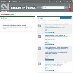 Bibliothèques de l'université Rennes 2 catalogue › Results of search for 'kw,wrdl: cosedia'