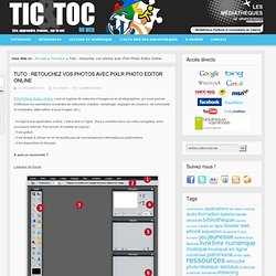 Tutoriel bases de Pixlr Editor