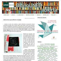 BiblioUNED abierta: Aplicaciones para detectar el plagio