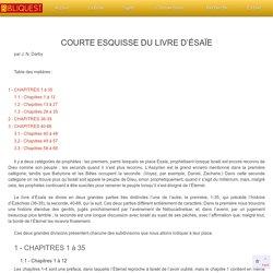 Etude Biblique raccourcie sur le livre du prophète Esaie