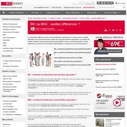 BIC ou BNC : quelles différences ?