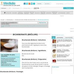 Bicarbonate (Brûlure)