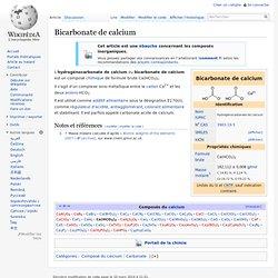 Bicarbonate de calcium