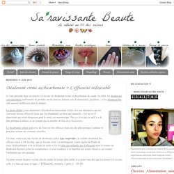 Déodorant crème au bicarbonate > L'efficacité redoutable