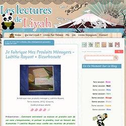 Je Fabrique Mes Produits Ménagers – Laëtitia Royant + Bicarbonate