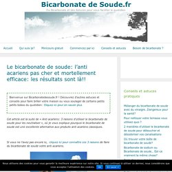 Le bicarbonate de soude: l'anti acariens mortellement efficace