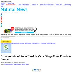 Bicarbonate of Soda Used to Cure Stage Four Prostate Cancer