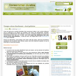 Vinaigre+citron+bicarbonate = Javel-pollution Consommer Durable