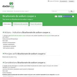 Bicarbonate de sodium cooper a