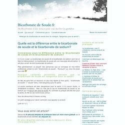 Bicarbonate de soude ou Bicarbonate de sodium?
