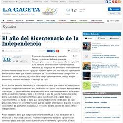 El año del Bicentenario de la Independencia - Opinión
