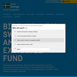 The Bicentennial Swedish-American Exchange Fund