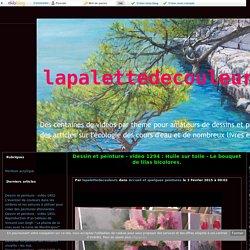 vidéo 1294 : Huile sur toile - Le bouquet de lilas bicolores. - lapalettedecouleurs