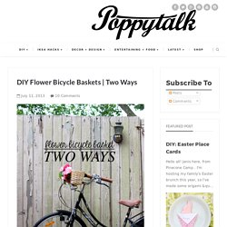 DIY Flower Bicycle Baskets