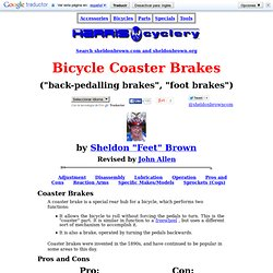 One-Speed Bicycle Coaster Brakes