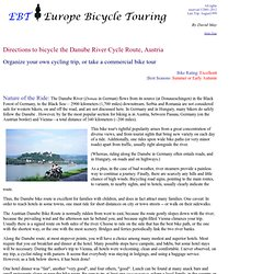 Bicycle the Danube River Bike Route