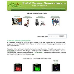 Free Plans To Build your own Bicycle Generator Pedal Power Station