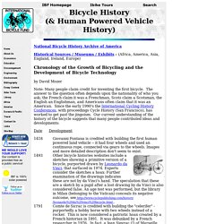 Bicycle History Timeline