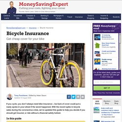 Bicycle Insurance - get cheap cover for your bike