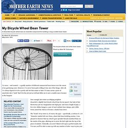 Bicycle Wheel Bean Tower