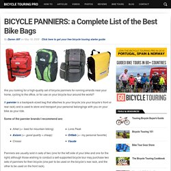 BICYCLE PANNIERS: Top 26 List - Best Bike Panniers