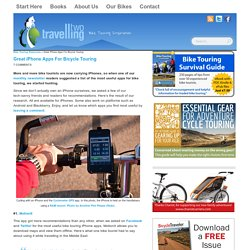 Great iPhone Apps For Bicycle Touring - TravellingTwo: Bicycle Touring Around The World