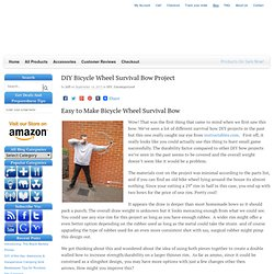 DIY Bicycle Wheel Survival Bow Project