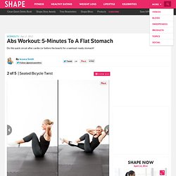 Seated Bicycle Twist - Abs Workout: 5-Minutes to a Flat Stomach - Shape Magazine - Page 2