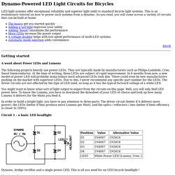 Dynamo LED Light Systems for Bicycles (electronic circuits)