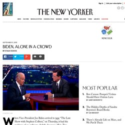 Biden, Alone in a Crowd - The New Yorker