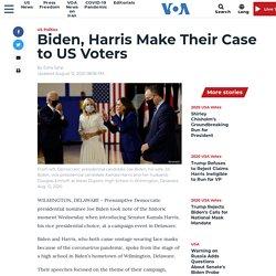 8/12/20: Biden, Harris Make Their Case to US Voters