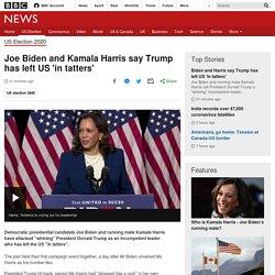 Joe Biden and Kamala Harris say Trump has left US 'in tatters'