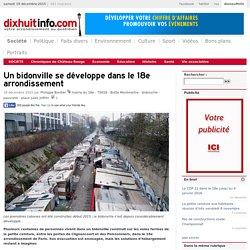 Un bidonville se développe dans le 18e arrondissement
