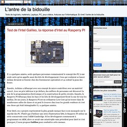 Test de l'Intel Galileo, la réponse d'Intel au Rasperry PI