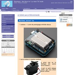 un bidule que je télécommande - Robotique : des blocs toi ! La robot TIC facile