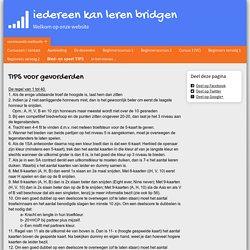 Bied- en speel TIPS - www.bridgedocenttwente.nl