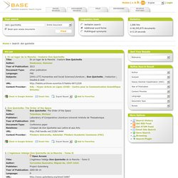 BASE (Bielefeld Academic Search Engine): Hit List