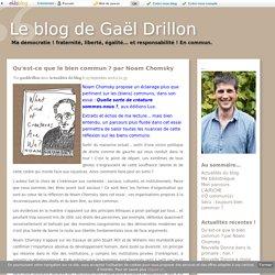 Qu'est-ce que le bien commun ? par Noam Chomsky - Le blog de Gaël Drillon