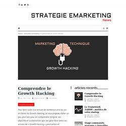 Bien comprendre le growth hacking