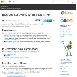 Bien Débuter avec le Small Basic (fr-FR) – Small Basic