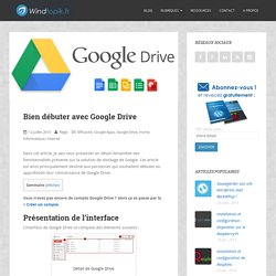 Bien débuter avec Google Drive