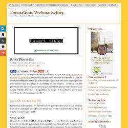 Bien rédiger son titre pour le web