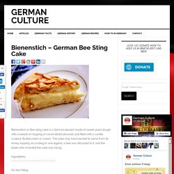 Bienenstich - German Bee Sting Cake - German Recipes