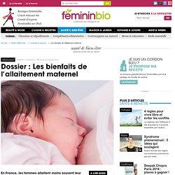 Les bienfaits de l'allaitement maternel